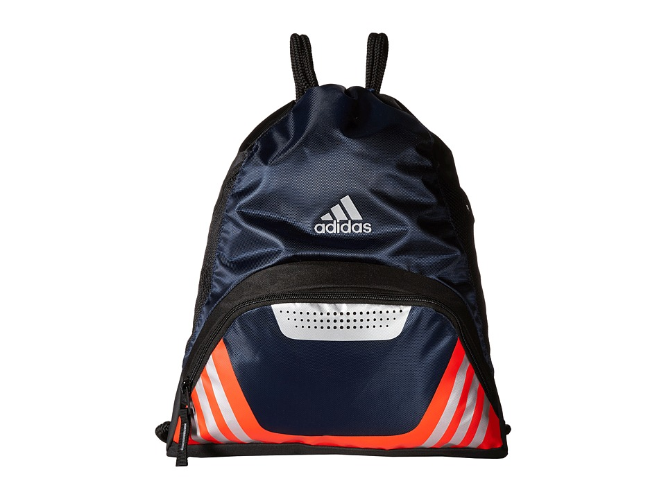 adidas - Team Speed II Sackpack (Collegiate Navy/Bold Orange/Grey) Bags