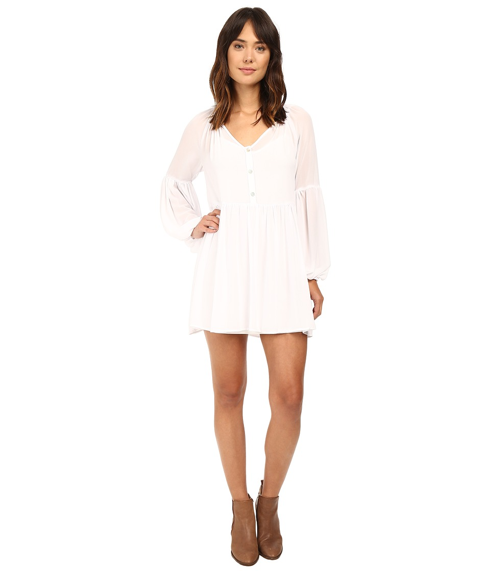 Show Me Your Mumu - Sienna Swing Tunic Dress (White Chiffon) Women's Dress