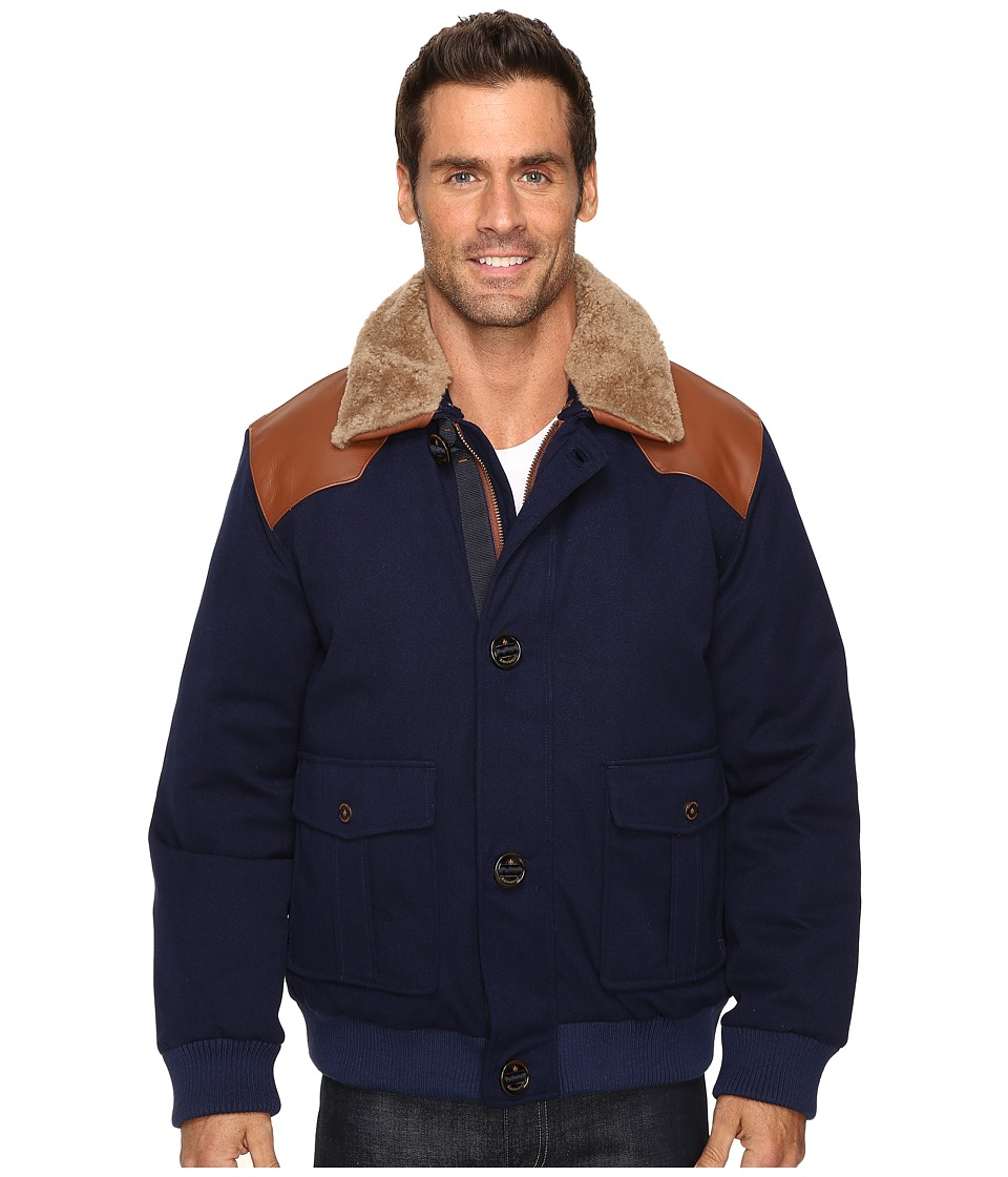 Rainforest - Tenakee Baseball Jacket (Navy) Men's Coat