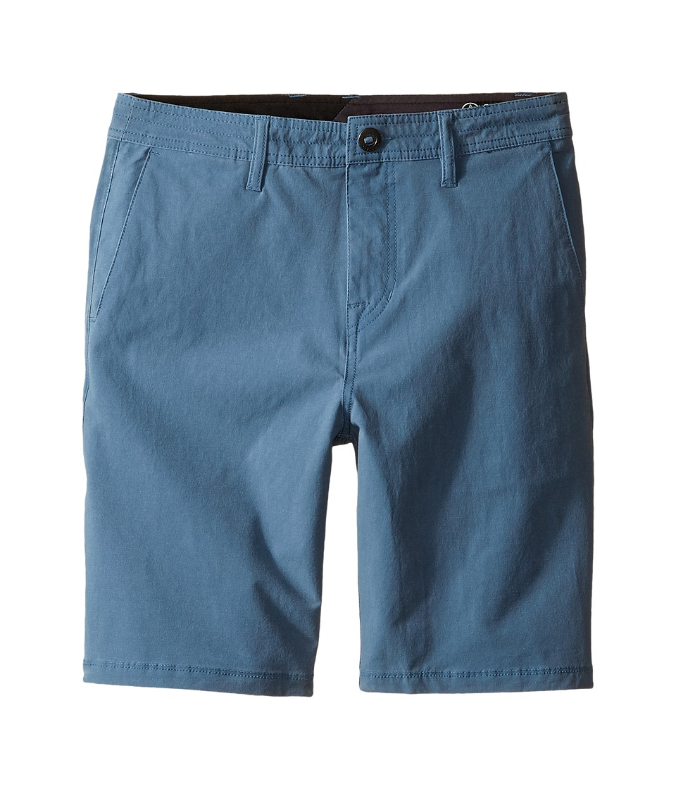 Volcom Kids - SNT Faded Shorts (Big Kids) (Blue Fog) Boy's Shorts