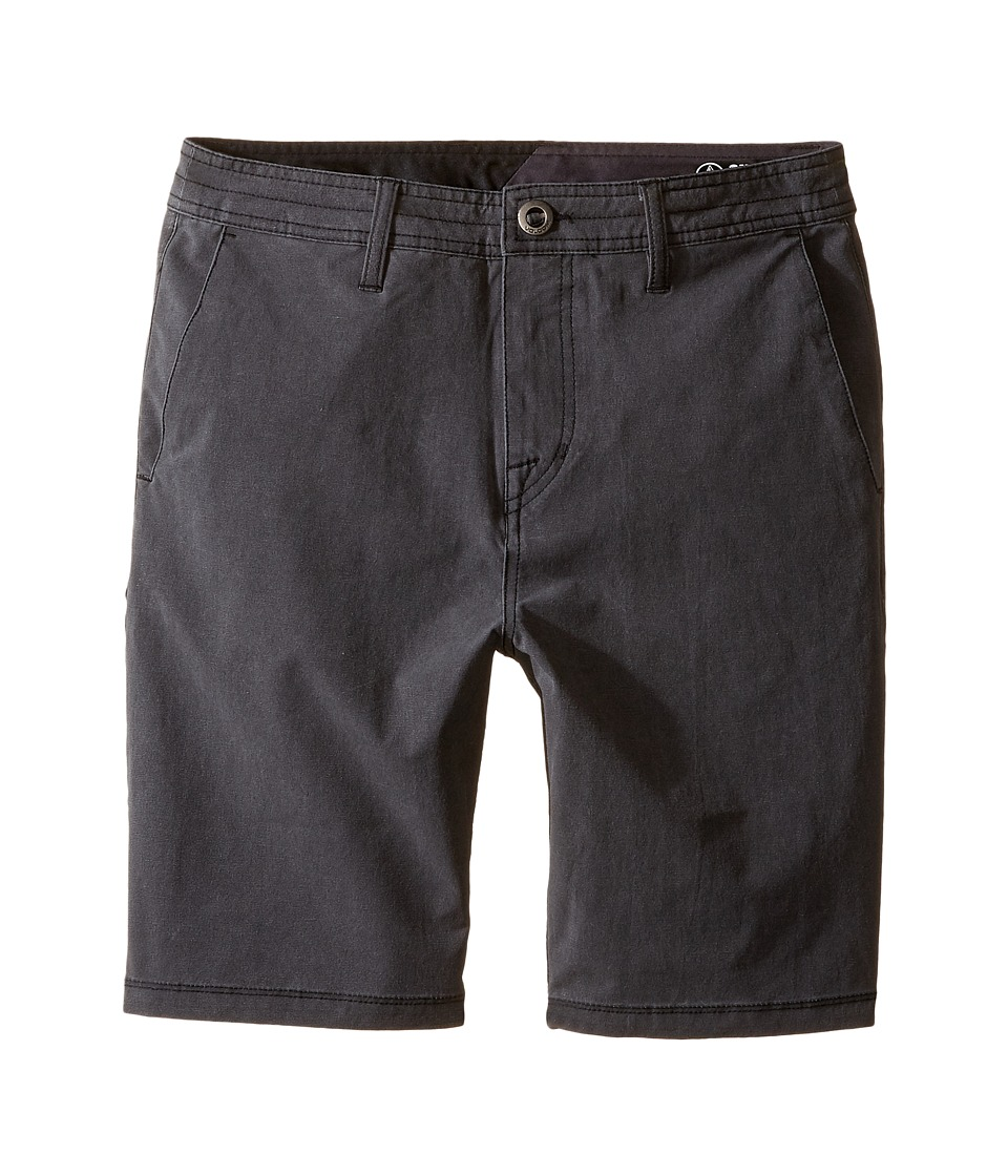 Volcom Kids - SNT Faded Shorts (Big Kids) (Black) Boy's Shorts