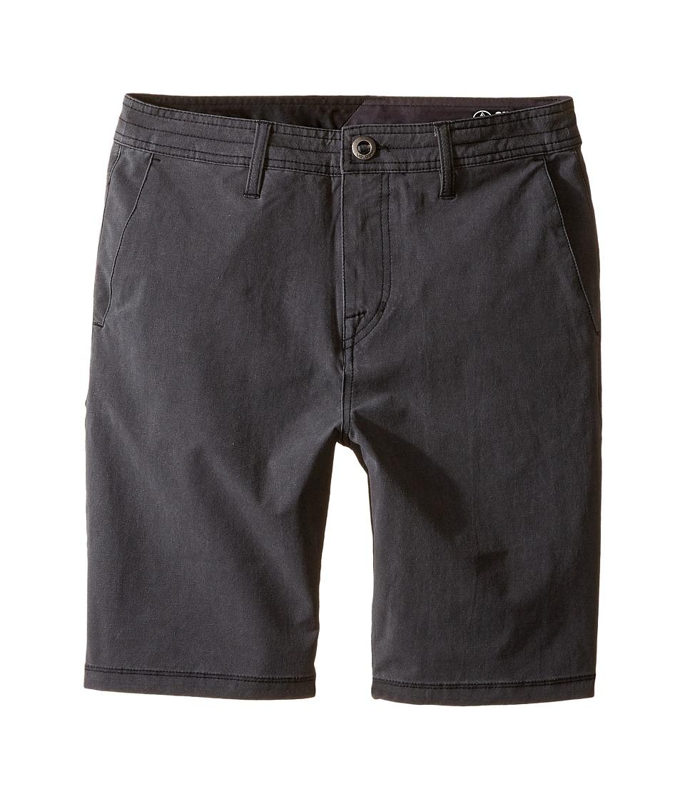 Volcom Kids - SNT Faded Shorts (Big Kids) (Black) Boy's Shorts