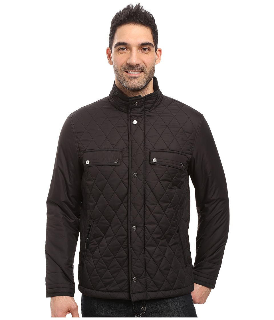 Rainforest - Diamond Quilted Bomber Jacket (Black) Men's Coat