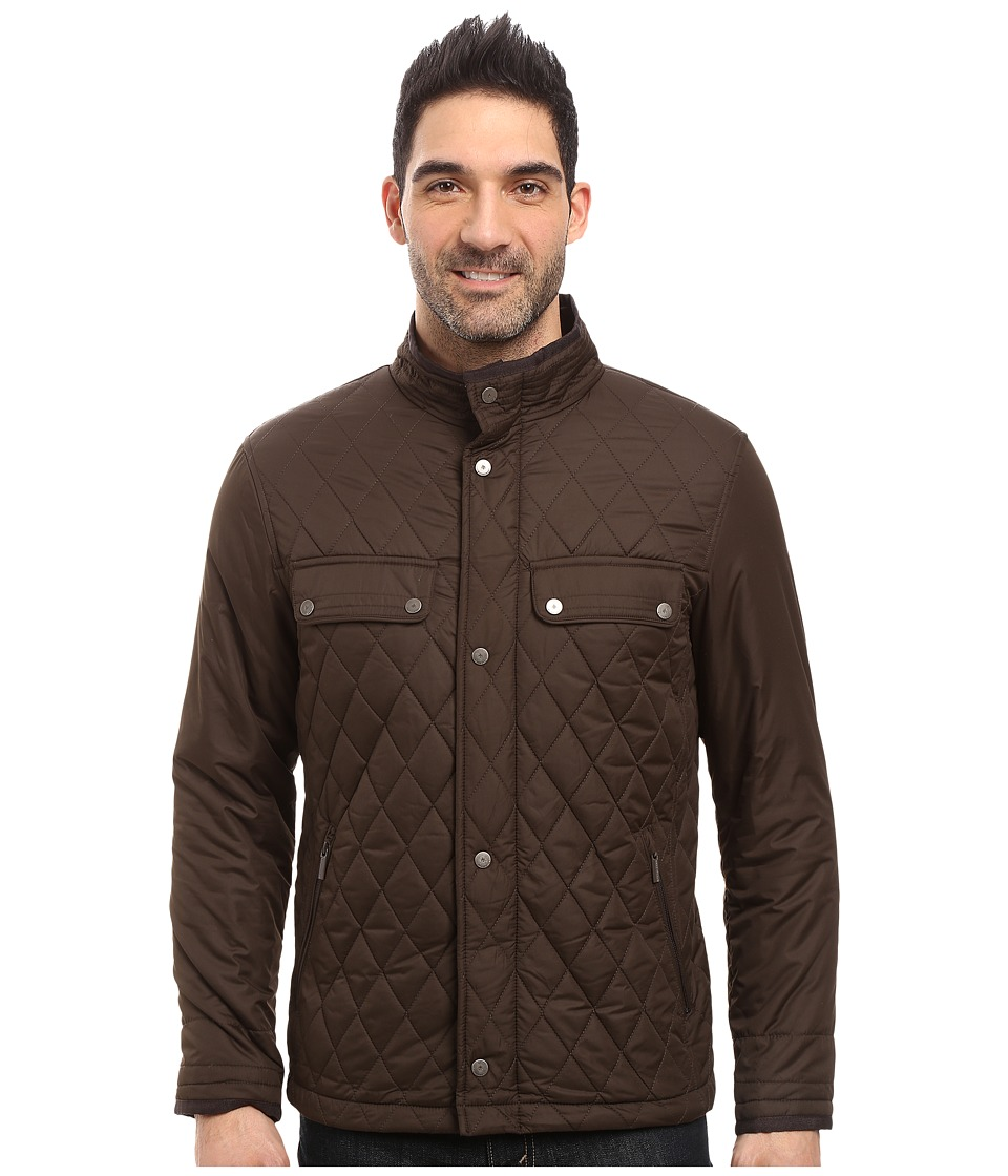 Rainforest - Diamond Quilted Bomber Jacket (Clay) Men's Coat