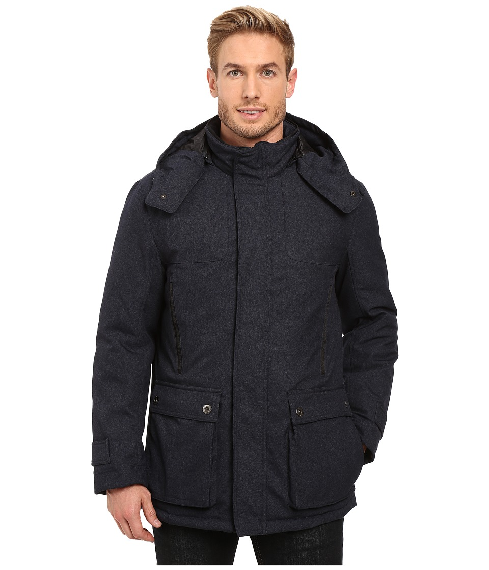 Rainforest - Platinum Twill Parka (Navy) Men's Coat