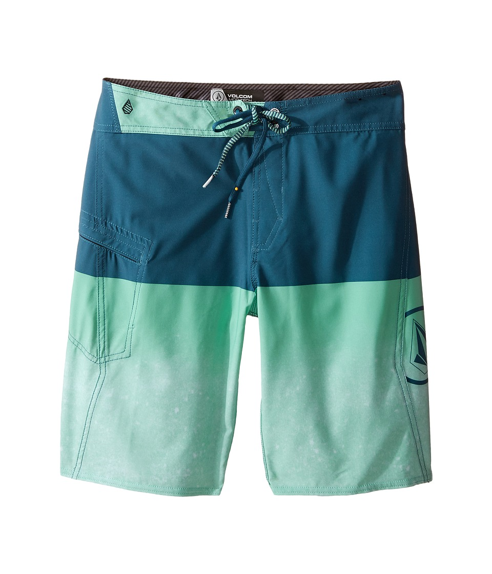 Volcom Kids - Lido Logo Mod Boardshorts (Big Kids) (Fade Green) Boy's Swimwear