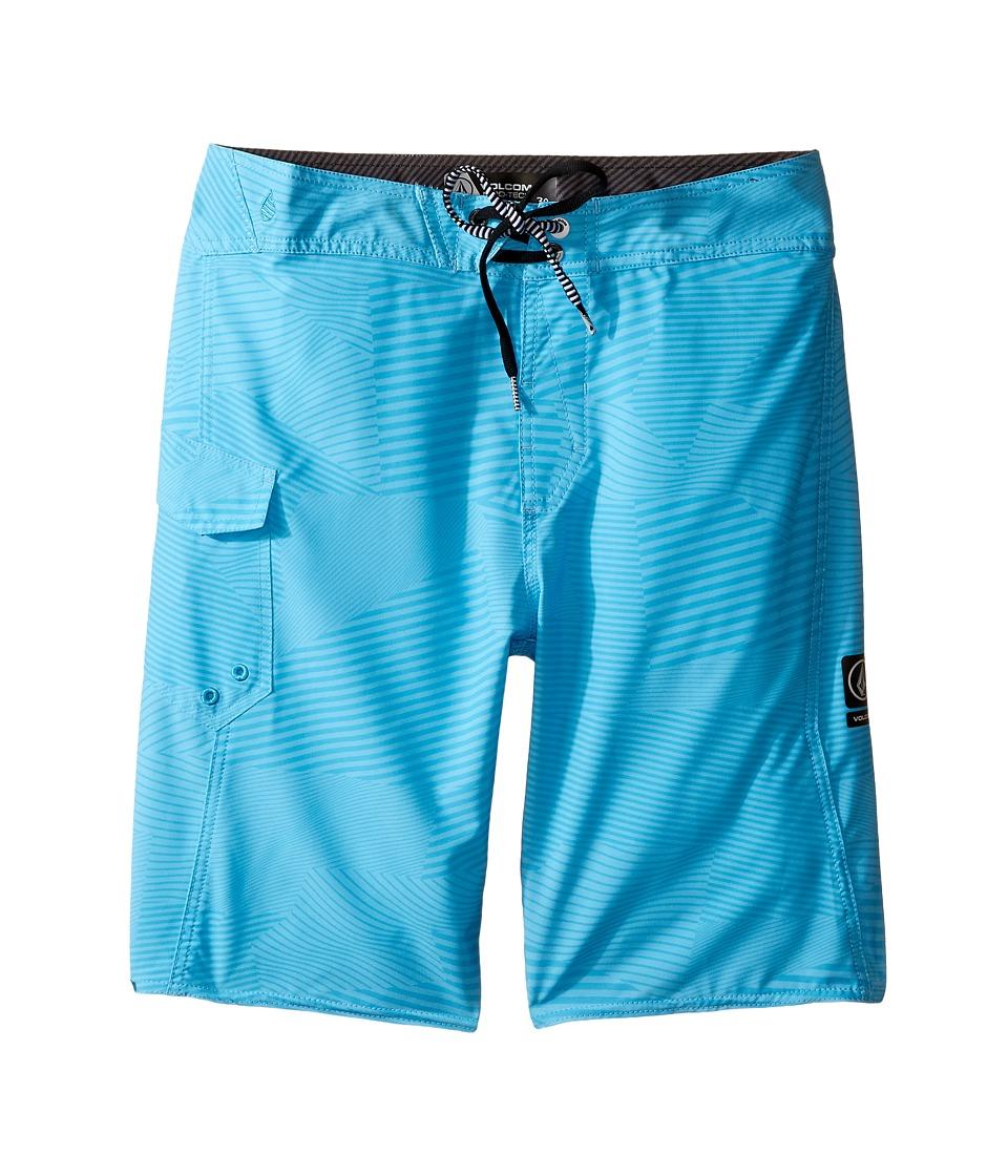 Volcom Kids - Stone Mod Boardshorts (Big Kids) (Blue Glacier) Boy's Swimwear