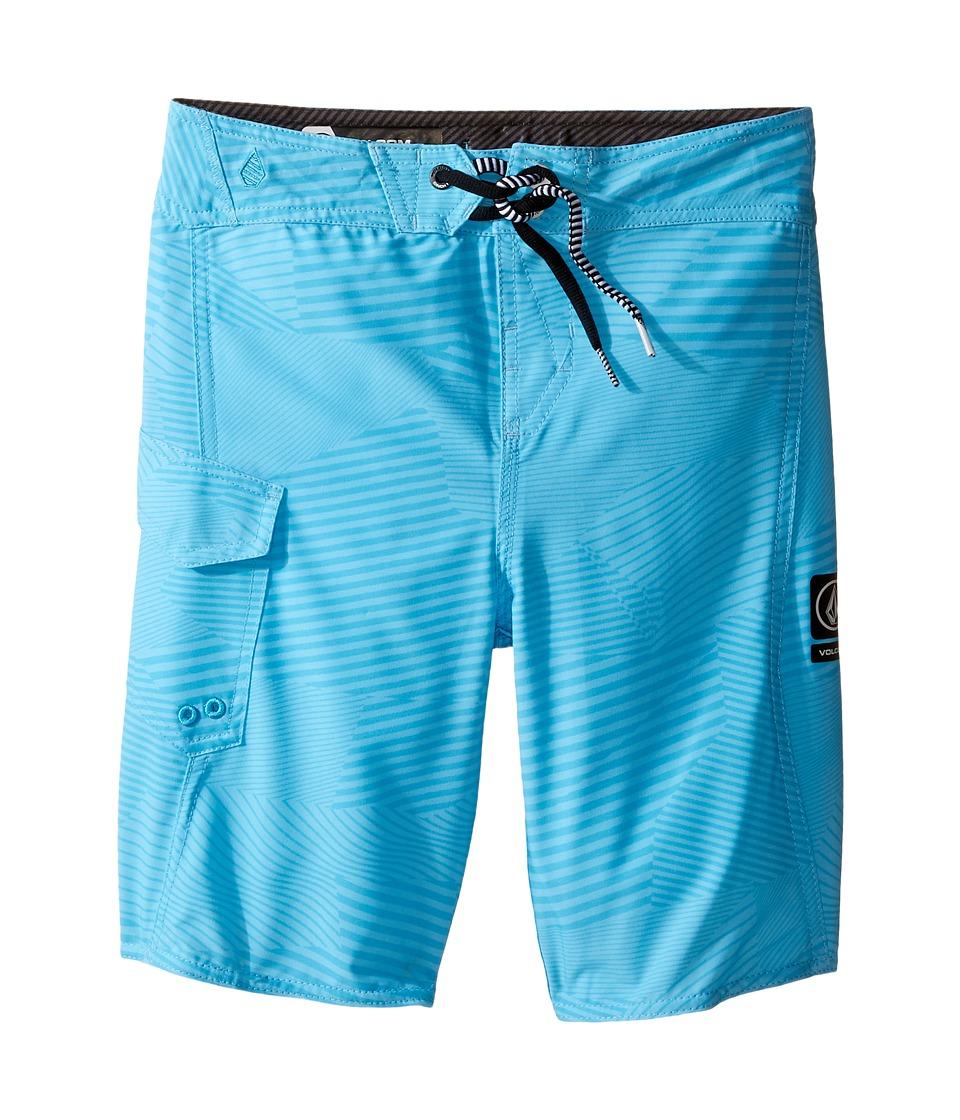 Volcom Kids - Stone Mod Boardshorts (Toddler/Little Kids) (Blue Glacier) Boy's Swimwear