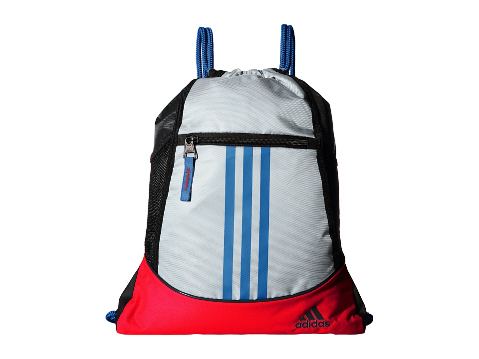 adidas - Alliance II Sackpack (White/Bold Orange/Shock Blue) Bags