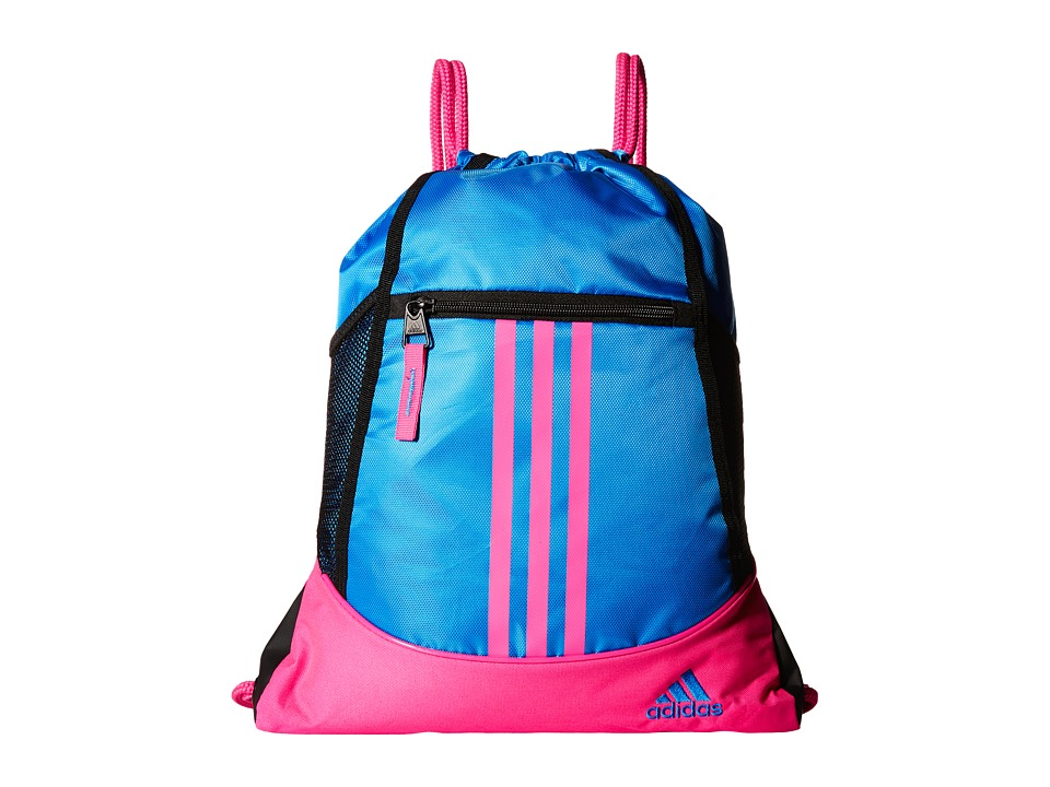 adidas - Alliance II Sackpack (Shock Blue/Shock Pink) Bags