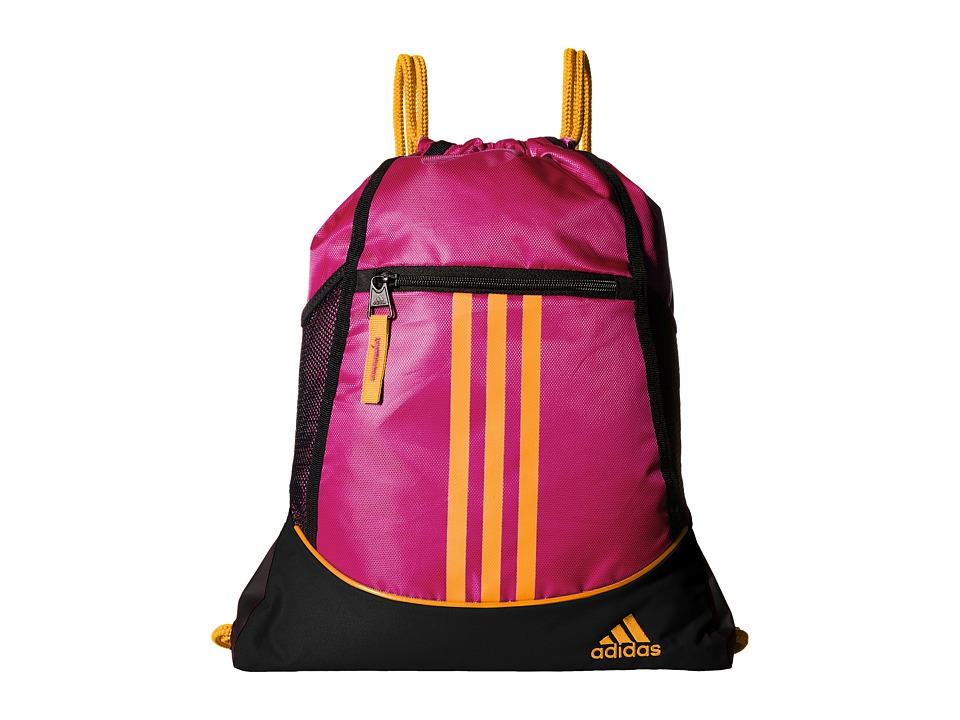 adidas - Alliance II Sackpack (Shock Pink/Solar Gold) Bags