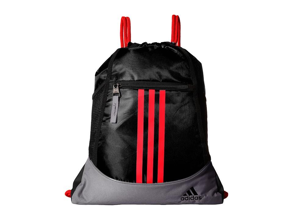 adidas - Alliance II Sackpack (Black/Grey/Bold Orange) Bags