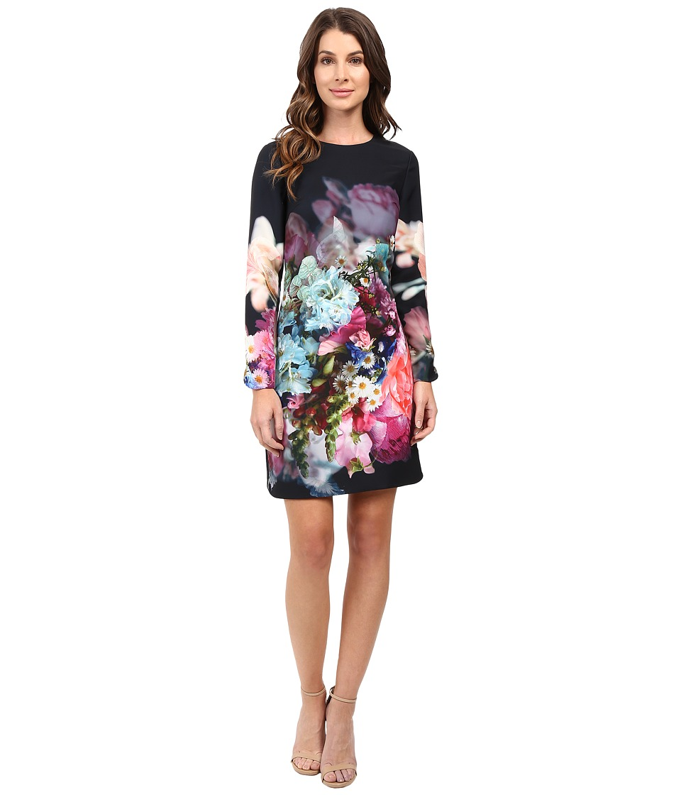 Ted Baker - Vyra Focus Bouquet Long Sleeve Tunic (Dark Blue) Women's Dress