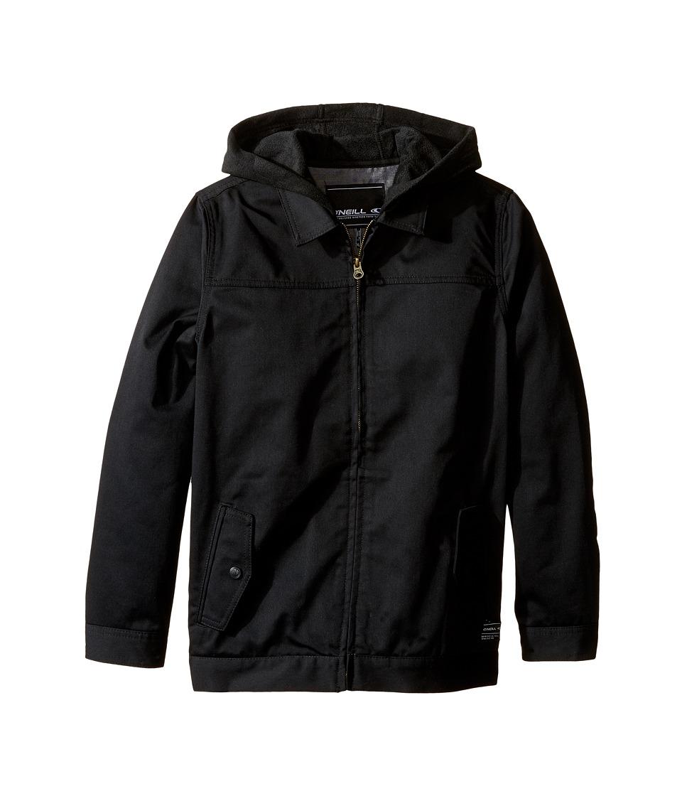 O'Neill Kids - Junction Hooded Garage Jacket (Big Kids) (Black) Boy's Coat
