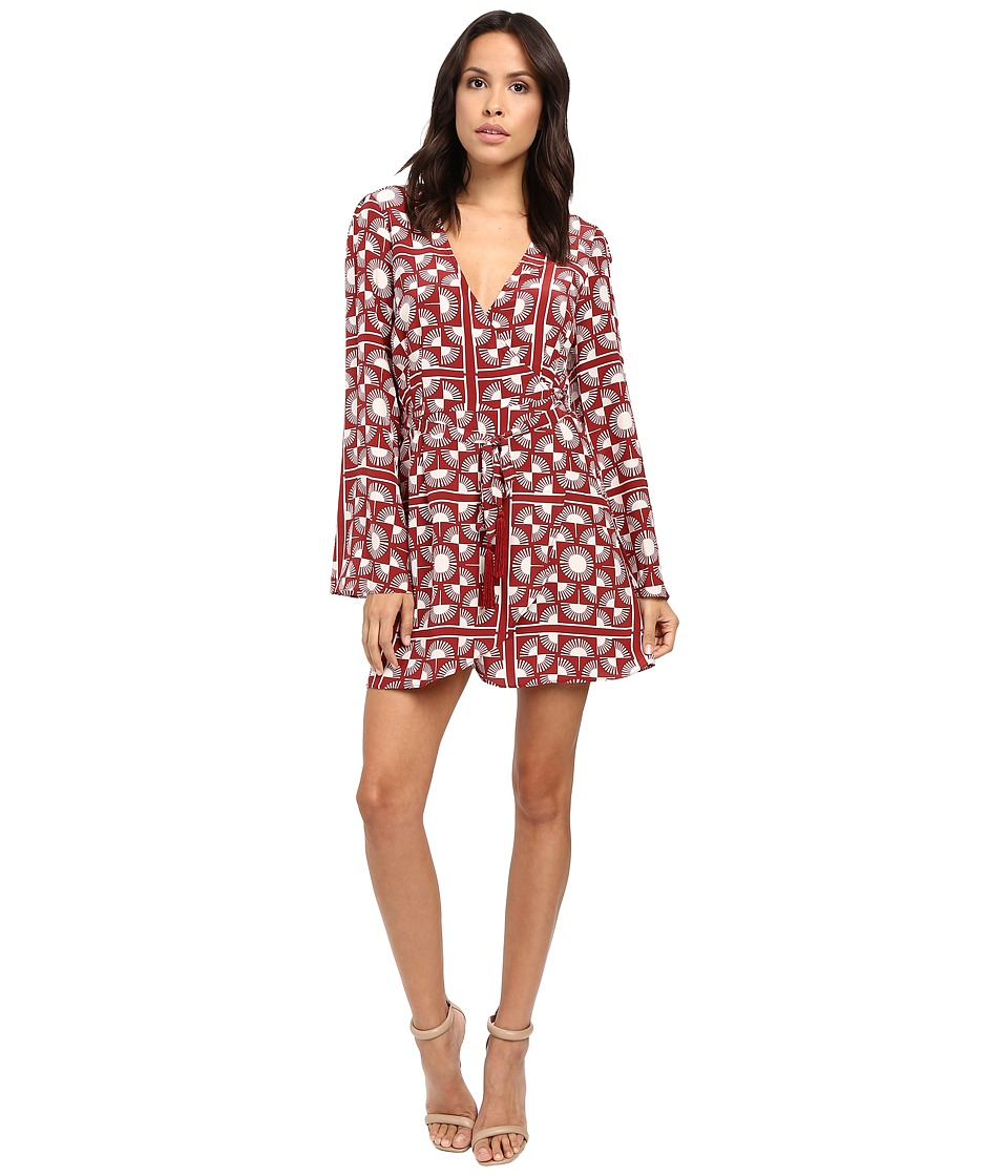 Stone Cold Fox - Kai Dress (Red Scarf Print) Women's Dress