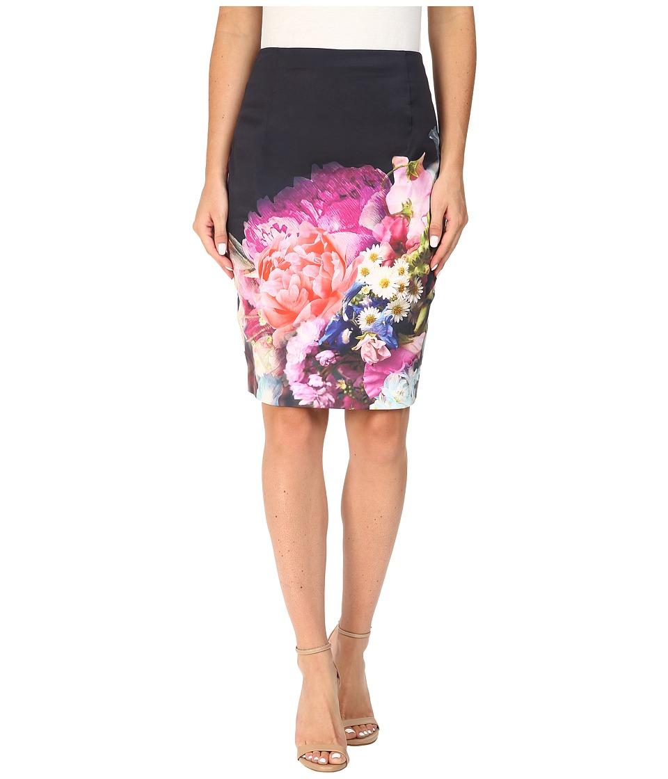 Ted Baker - Karyce Focus Bouquet Pencil Skirt (Dark Blue) Women's Skirt
