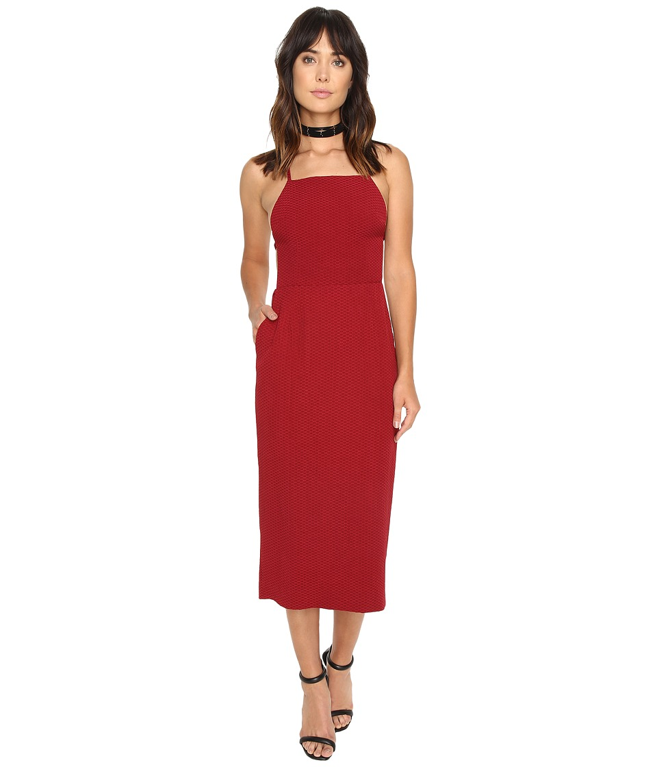 Stone Cold Fox Camellia Dress (Red Honeycomb) Women