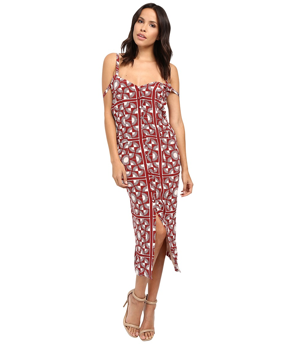 Stone Cold Fox - Gigi Dress (Red Scarf Print) Women's Dress