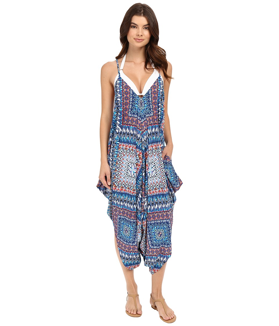 Red Carter - Jumpsuit Cover-Up (Denim Multi) Women's Jumpsuit & Rompers One Piece