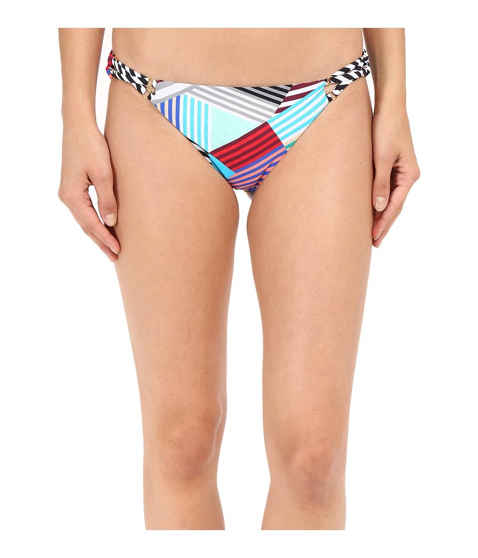 Red Carter - Ring Side Classic Hipster Bottoms (Black & White Multi) Women's Swimwear