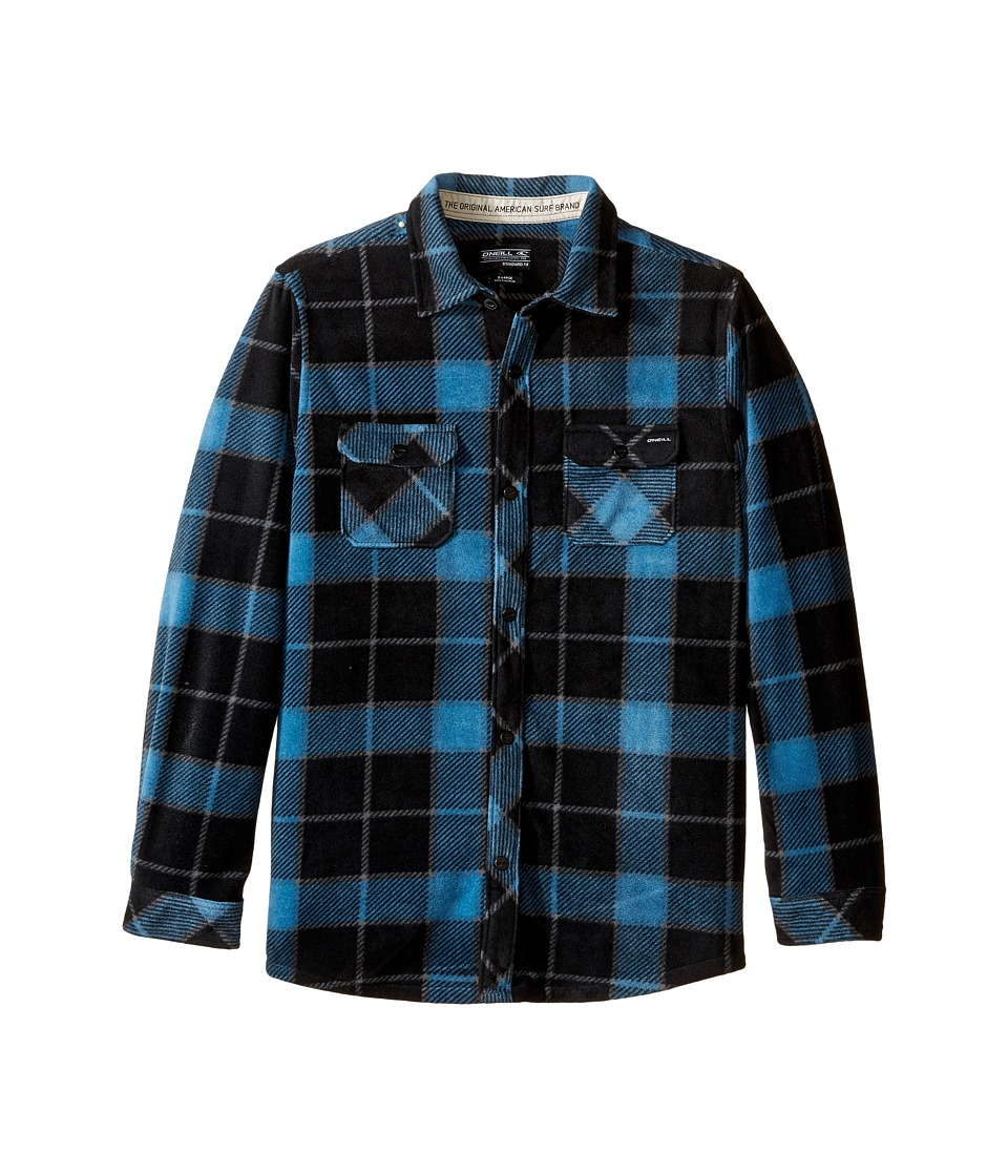 O'Neill Kids - Glacier Big Plaid Long Sleeve Shirt (Big Kids) (Black) Boy's Long Sleeve Pullover