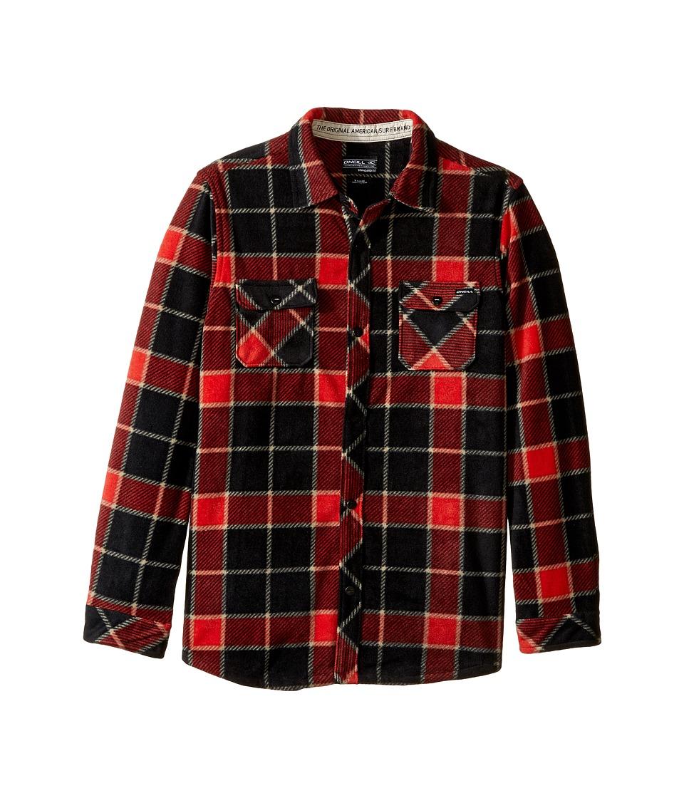 O'Neill Kids - Glacier Big Plaid Long Sleeve Shirt (Big Kids) (Red) Boy's Long Sleeve Pullover