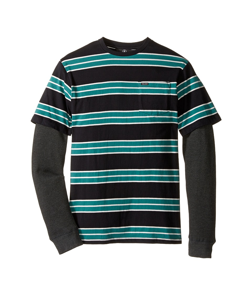 Volcom Kids - Pacific Long Sleeve Shirt (Big Kids) (Stealth) Boy's Long Sleeve Pullover