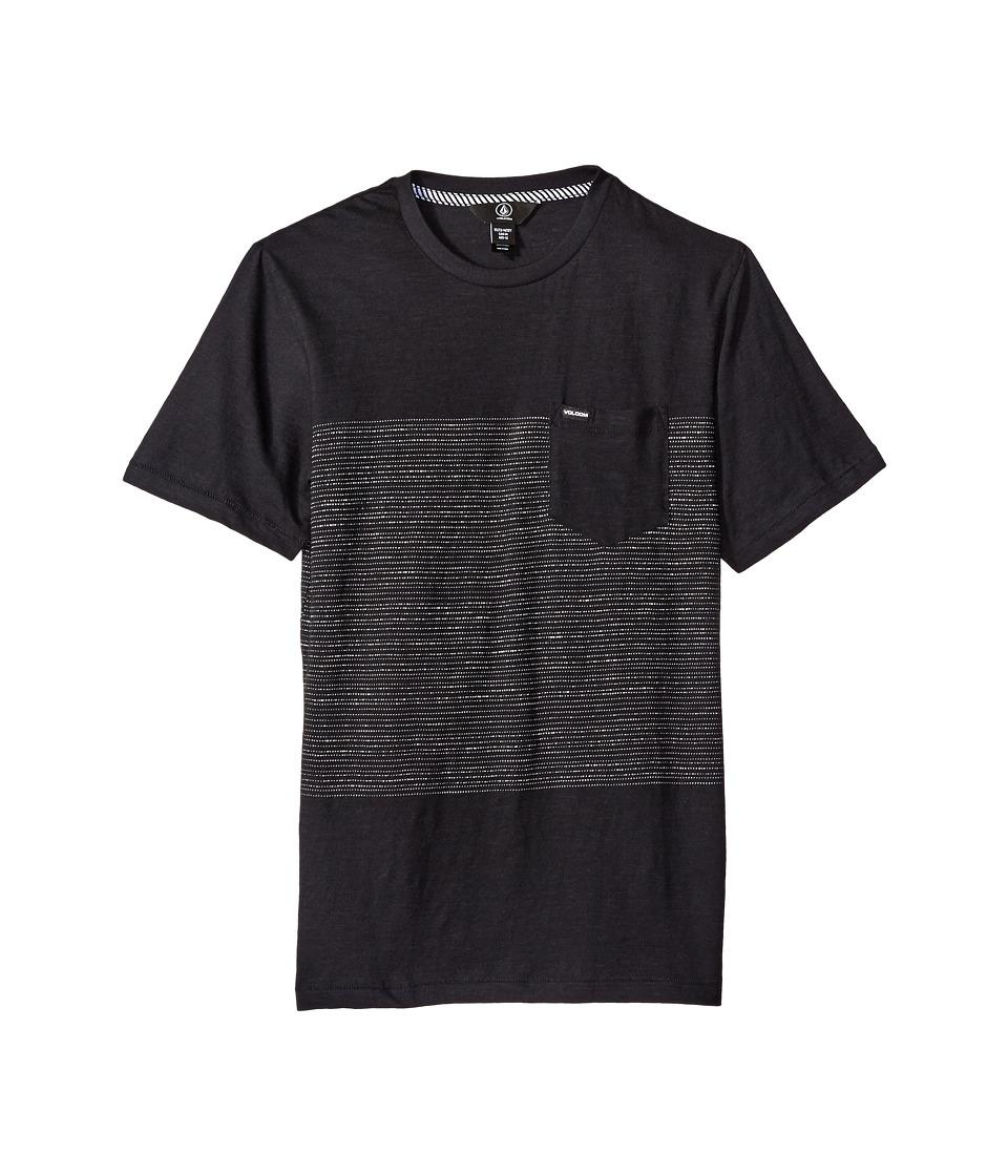Volcom Kids - Threezy Crew Shirt (Big Kids) (Black) Boy's Short Sleeve Pullover