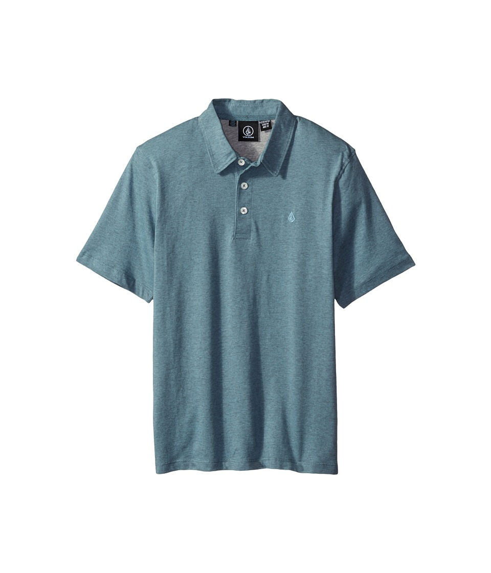 Volcom Kids - Wowzer Polo (Big Kids) (Blue Fog) Boy's Short Sleeve Pullover