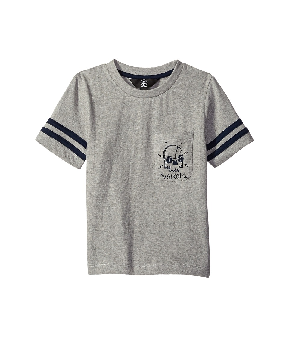 Volcom Kids - Crusher Crew Shirt (Big Kids) (Heather Grey) Boy's Short Sleeve Pullover