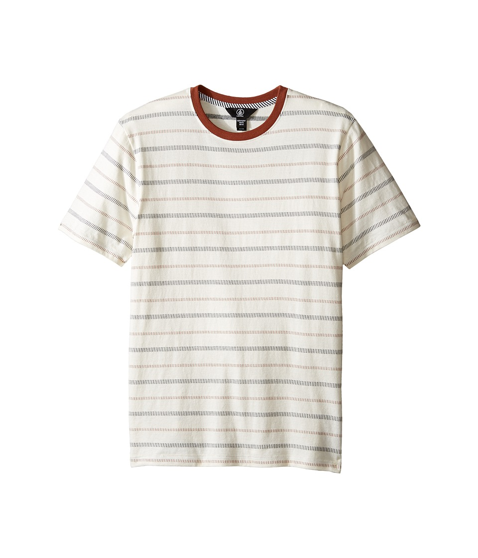 Volcom Kids - Chambers Crew Shirt (Big Kids) (Egg White) Boy's Short Sleeve Pullover