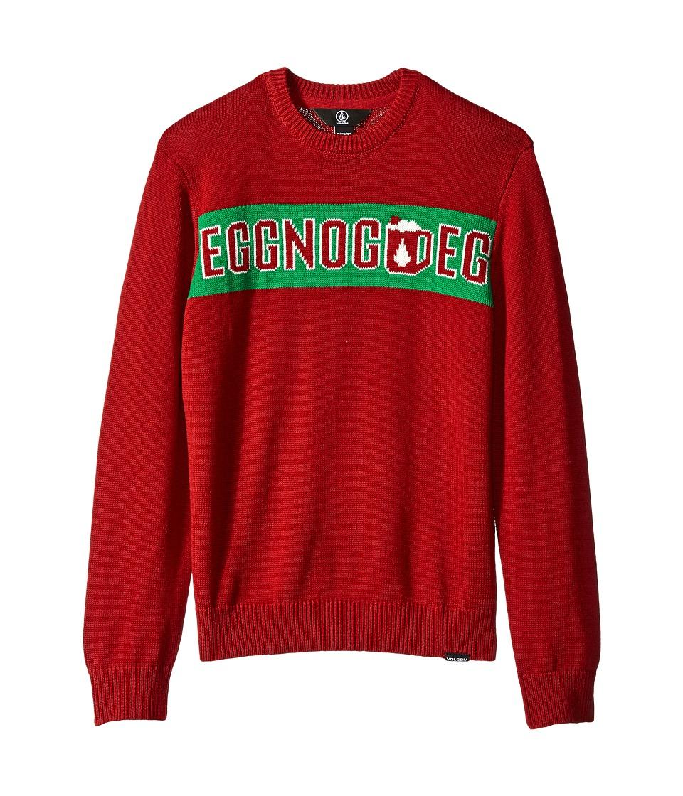 Volcom Kids - Strange Eggnog Sweater (Big Kids) (Blood Red) Boy's Sweater