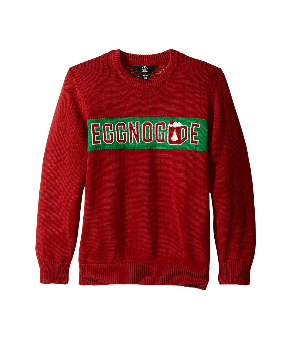 Volcom Kids - Strange Eggnog Sweater (Toddler/Little Kids) (Blood Red) Boy's Sweater