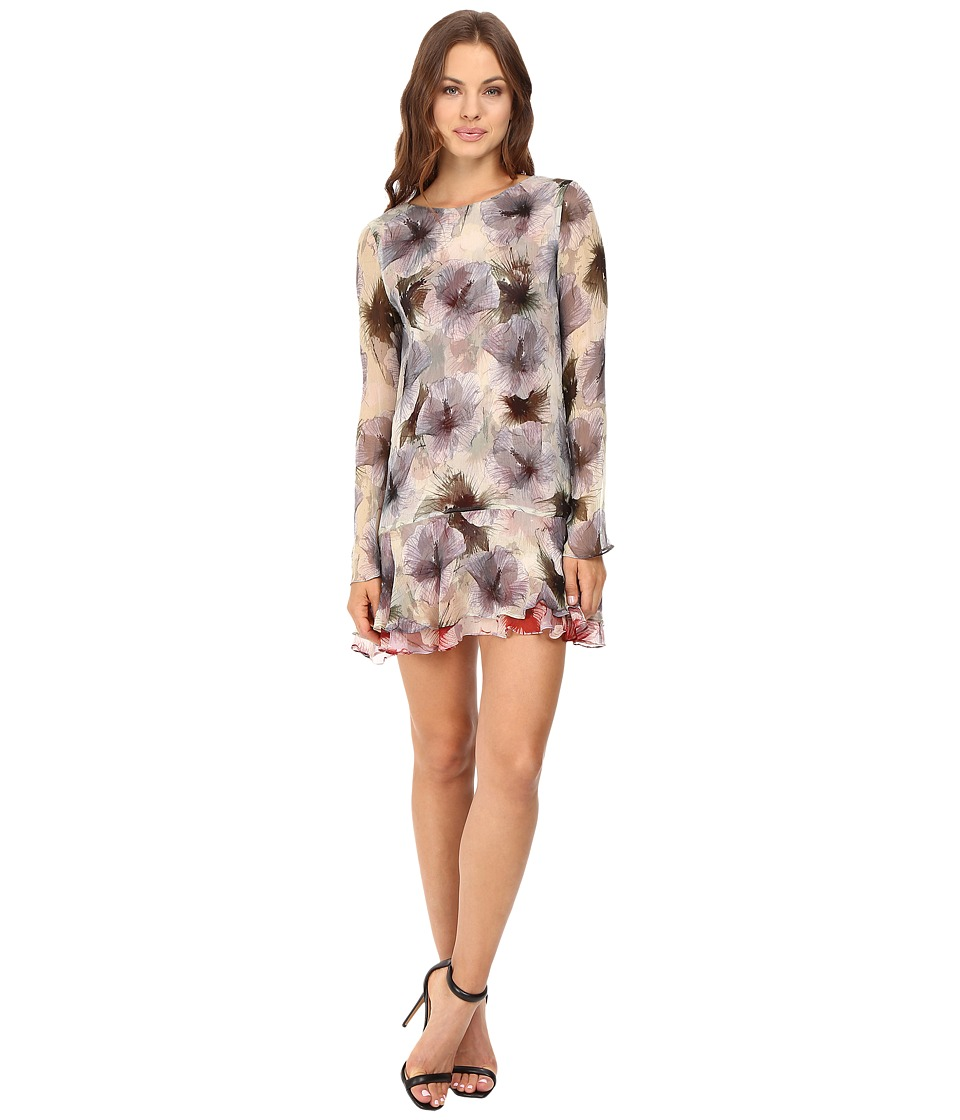 Stone Cold Fox - Dori Dress (Green Dahlia Print) Women's Dress