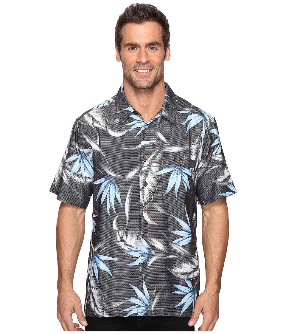 Quiksilver Waterman - Good Spirits (Black) Men's Short Sleeve Button Up