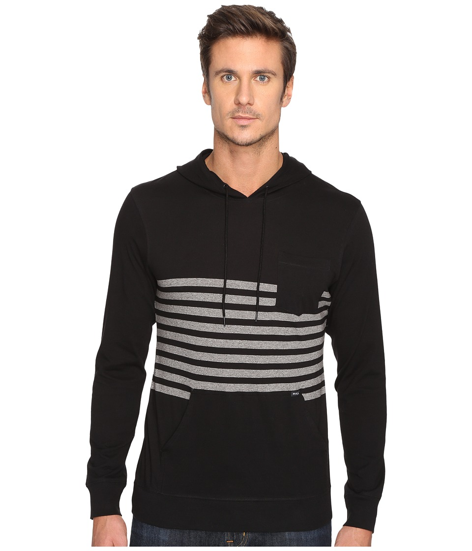 RVCA - New Sins Hoodie (Black) Men's Sweatshirt
