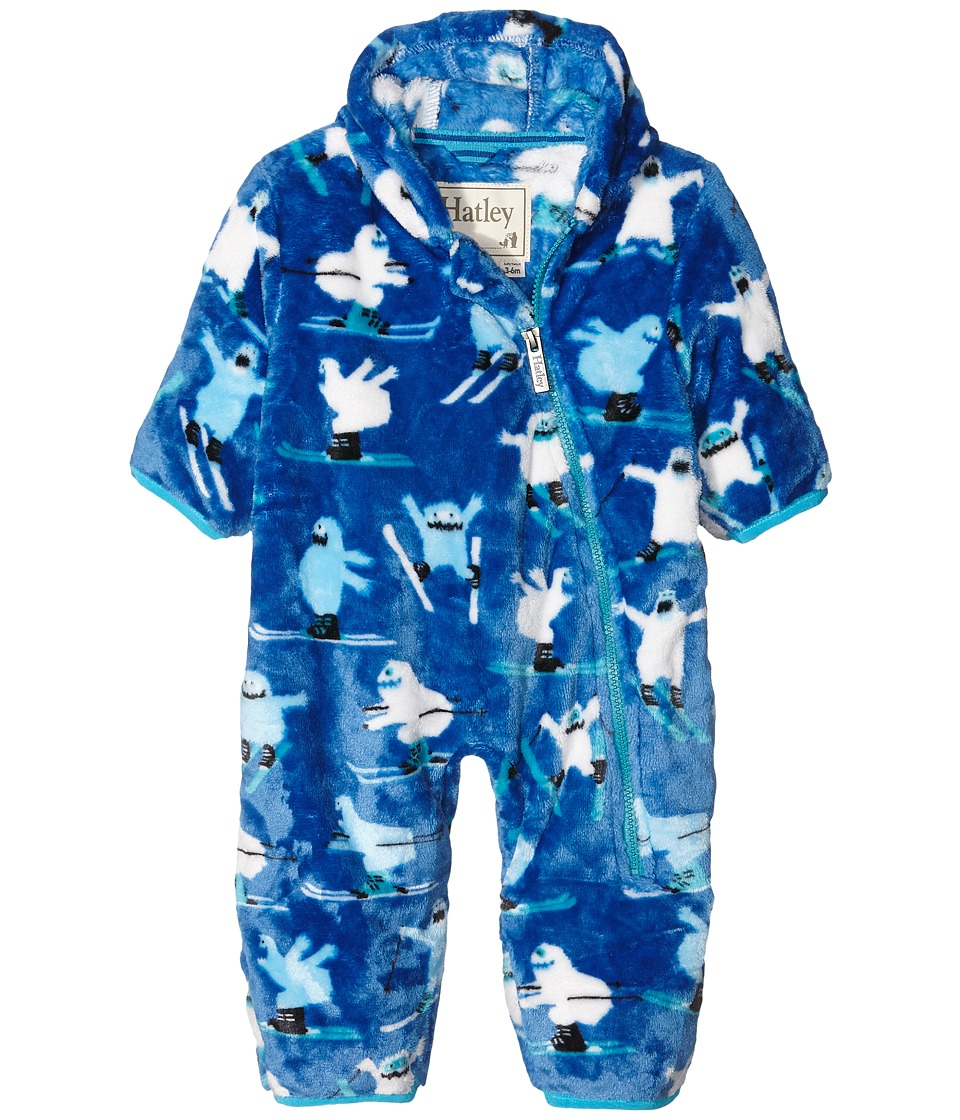 Hatley Kids - Ski Monsters Fuzzy Fleece Bundler (Infant) (Blue) Boy's Clothing