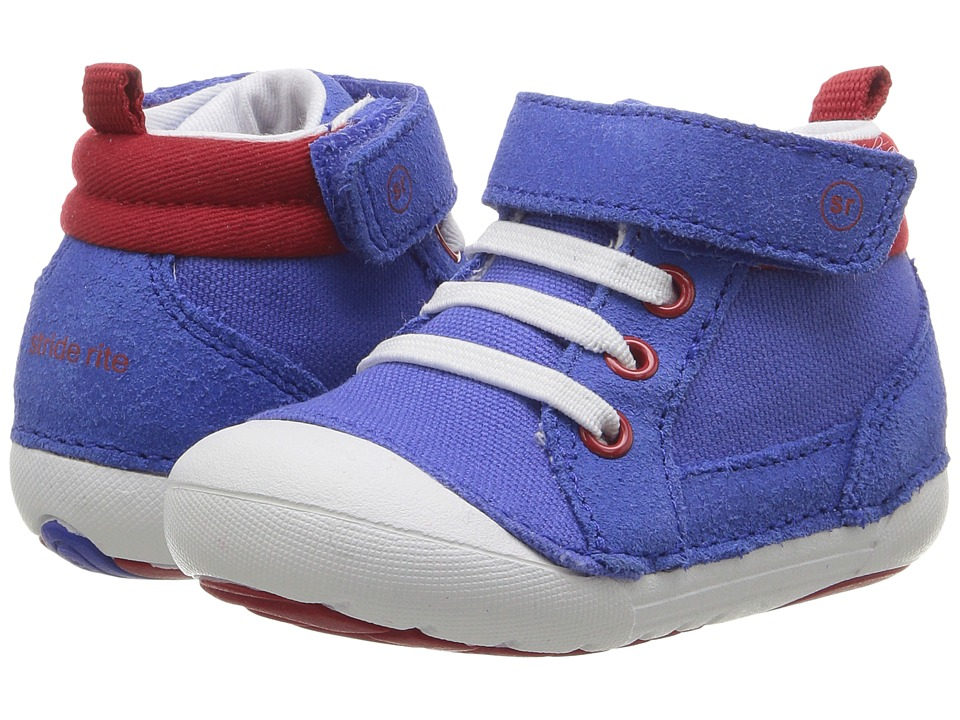Stride Rite - SM Danny (Infant/Toddler) (Blue/Red) Boy's Shoes