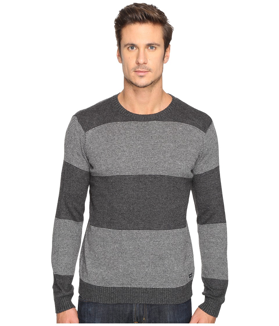 RVCA - Channels Crew (Charcoal Heather) Men's Sweater