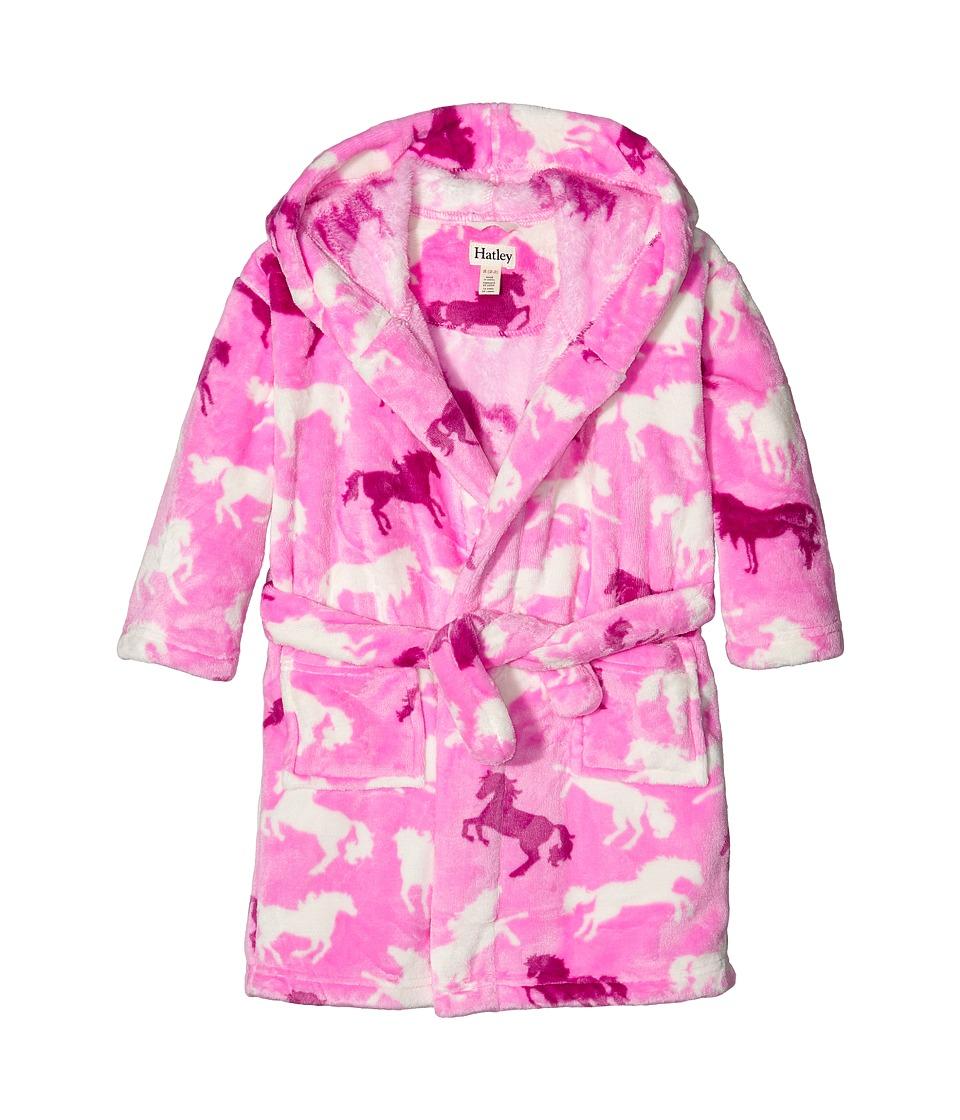 Hatley Kids - Fairy Tale Horses Fleece Robe (Toddler/Little Kids/Big Kids) (Pink) Girl's Robe