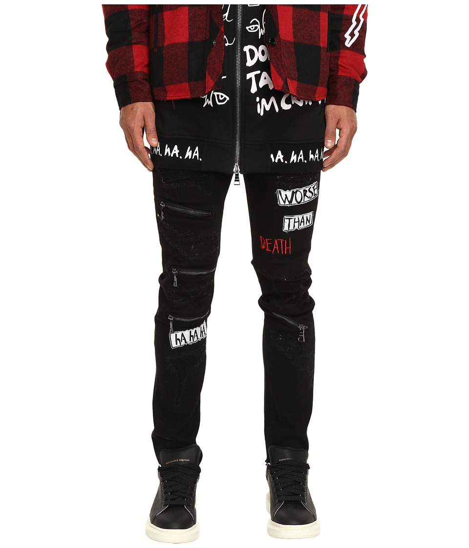 Haculla - Distressed Patch Jeans (Black) Men's Jeans