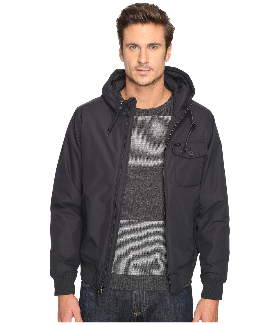 RVCA - Bus Stop Bomber Jacket (Black) Men's Coat