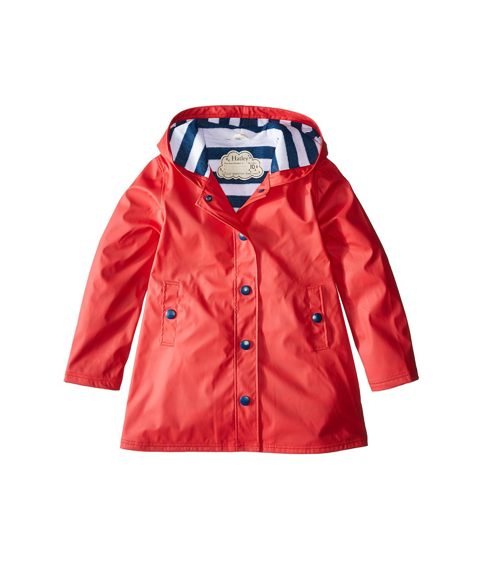 Hatley Kids - Splash Jacket (Toddler/Little Kids/Big Kids) (Red) Girl's Coat