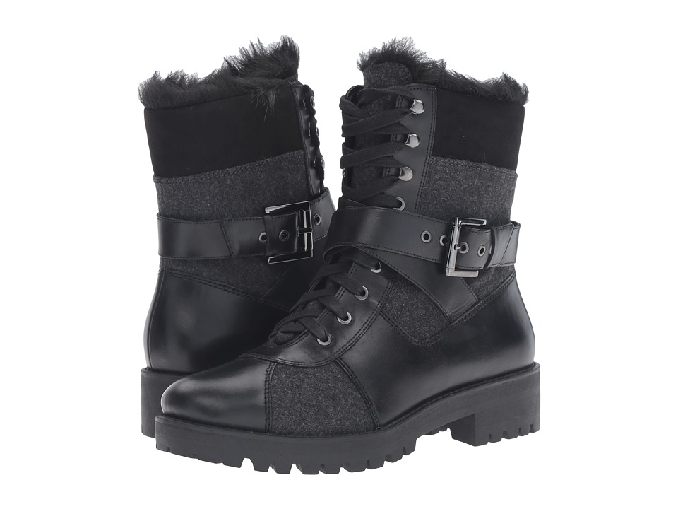 Nine West - Orithna (Black/Grey Multi Leather) Women's Boots