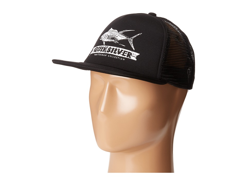 Quiksilver Waterman - Open Seas Trucker (Black) Baseball Caps