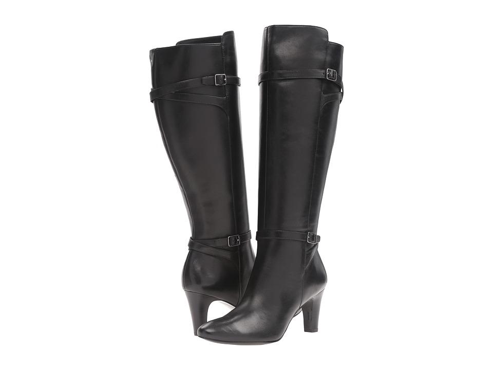 LAUREN Ralph Lauren Sabeen Wide Calf (Black Burnished Calf) High Heels