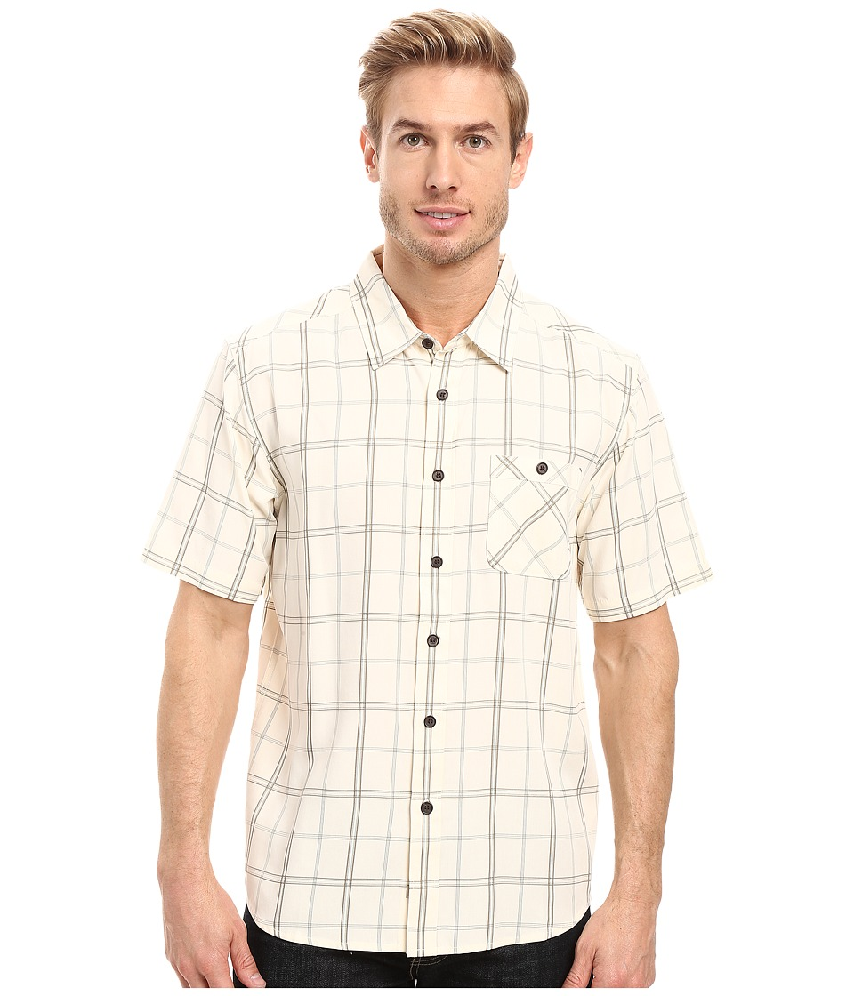 Quiksilver Waterman - Half Hitch (Pristine) Men's Short Sleeve Button Up