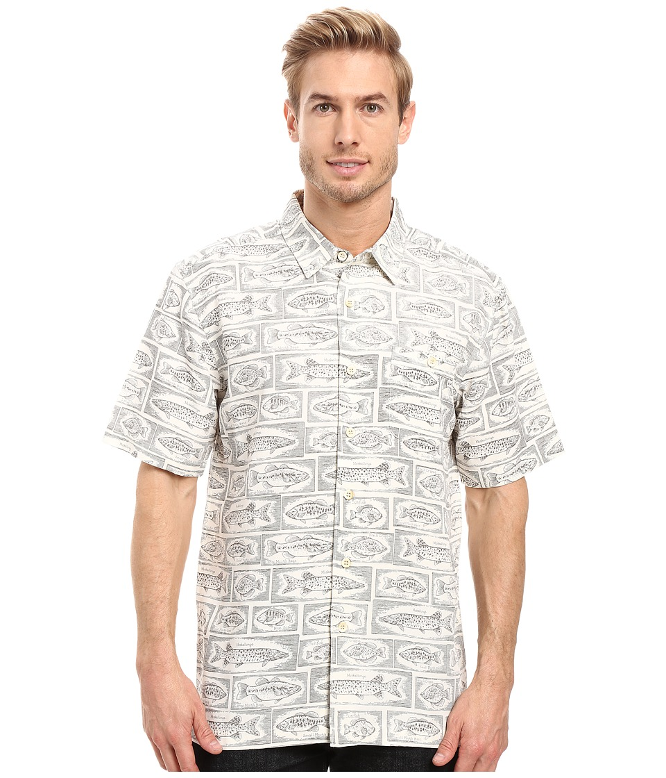 Quiksilver Waterman - Bump the Stump (Pristine) Men's Short Sleeve Button Up