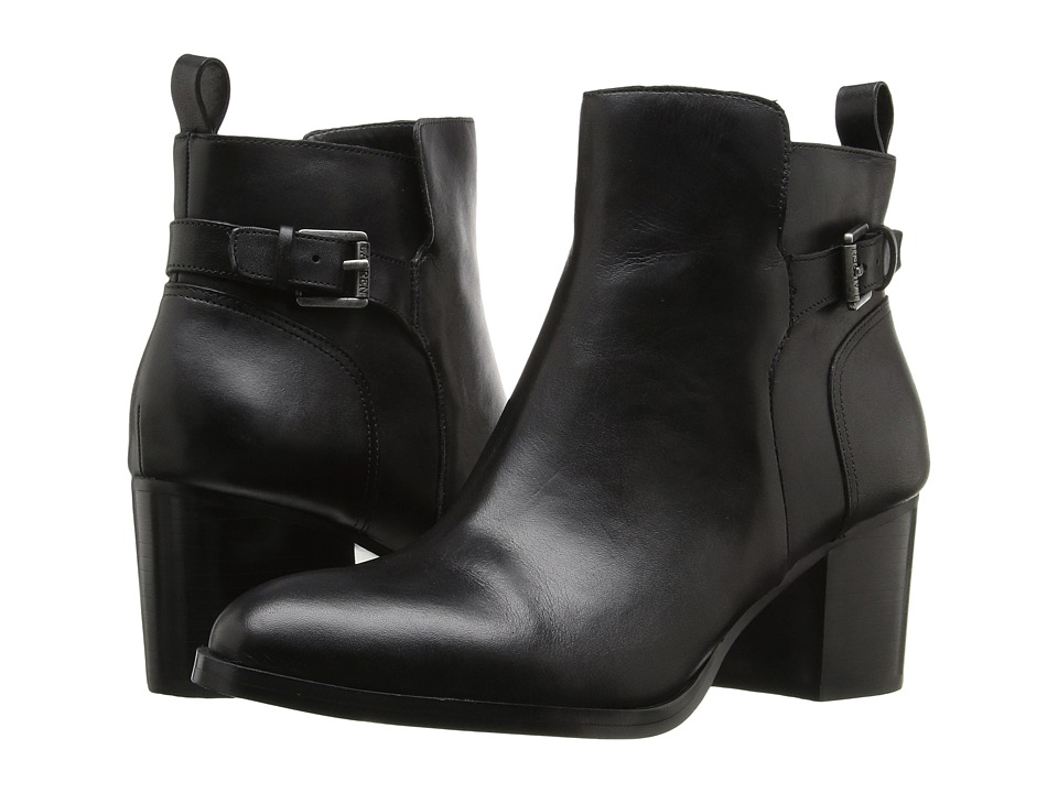 LAUREN Ralph Lauren Genna Black Signature Burn Calf High Heels