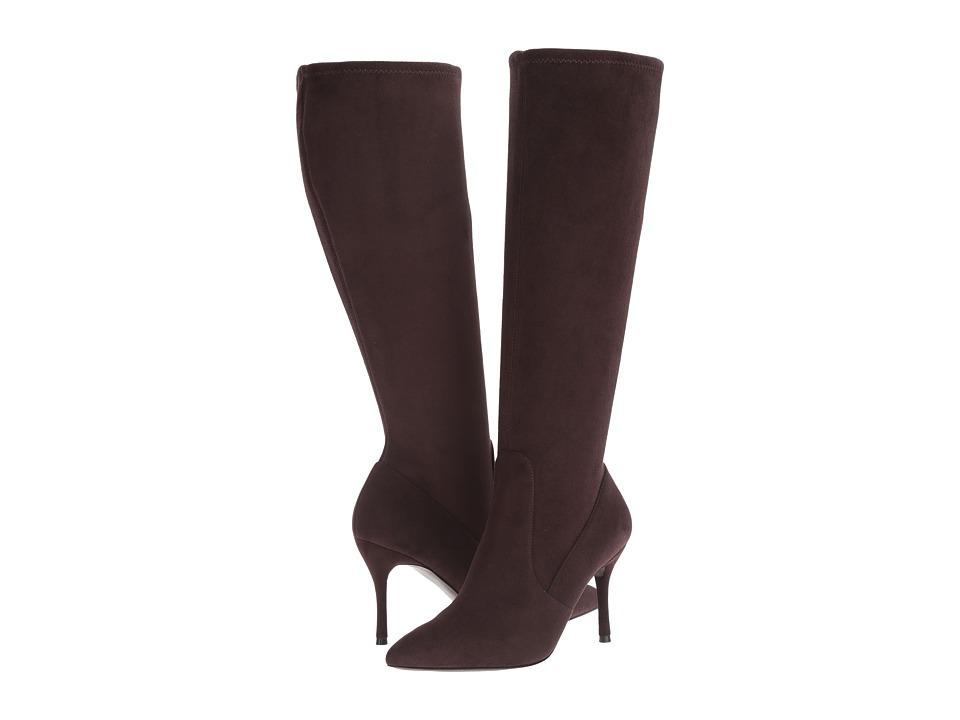Nine West - Calla-Wide (Dark Brown Fabric) Women's Shoes